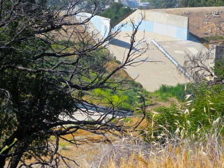 Strata Painting Study, Abandoned Sylmar Dam, May 2013