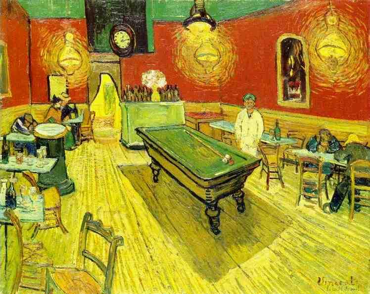 Cafe De La Nuit Van Gogh